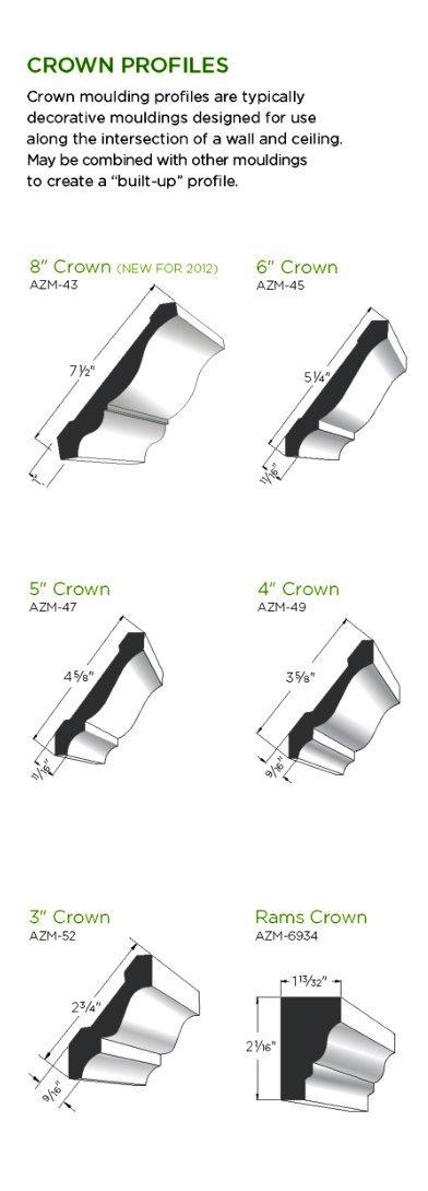 AZEK Moulding Crown Profiles image