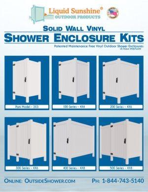 Liquid Sunshine Outdoor Shower Enclosure Kits Brochure - 2016