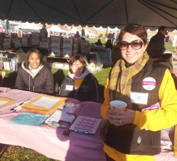 Dennisville Fence's Kristi Collins at the Ocean City Cancer Walk in 2013 image