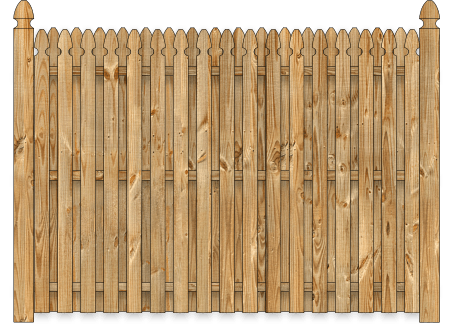 Board On Board Wood Fence - Cedar Straight Georgian