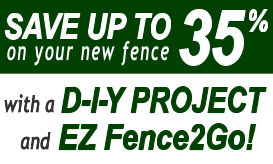 Save Up To 35% On Your New Fence With A DIY Project And EZ Fence2Go image