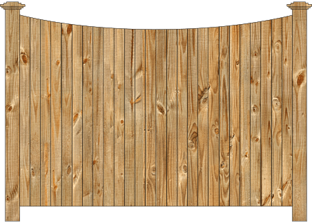 Solid Wood Privacy Fence - Concave Virginian iimage