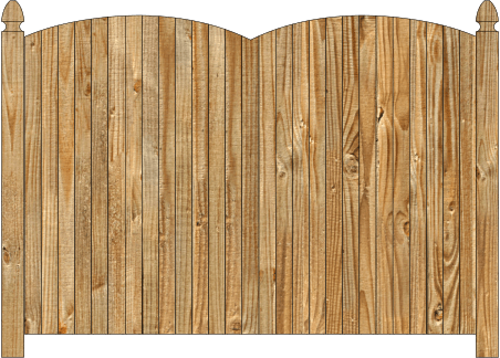 Solid Wood Privacy Fence - Double Convex Virginian image