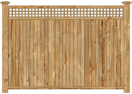 Solid Wood Privacy Fence - Cedar Tongue and Groove with Square Lattice image