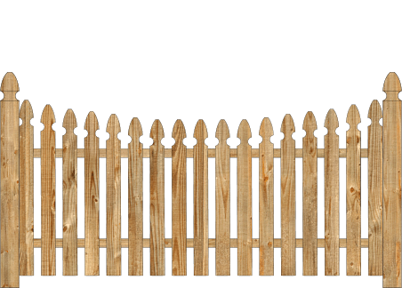 Spaced Picket Wood Fence - Cedar Single Concave Georgian image
