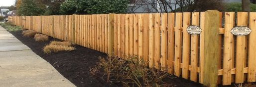Wood Fence Spaced Picket image