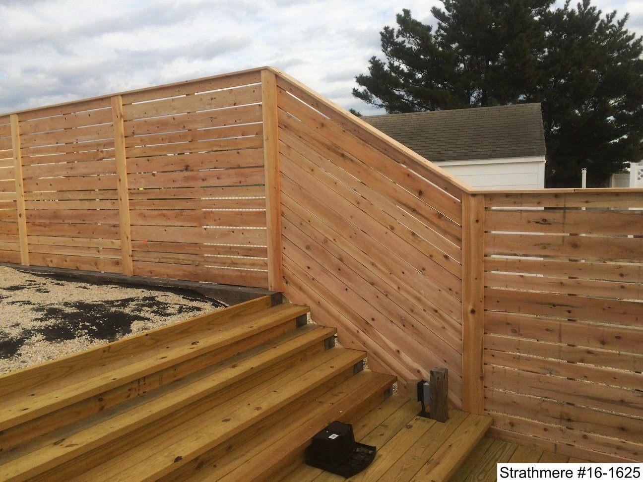 Horizontal wood fence horizontal wood privacy fence horizontal madera horizontal wood fence installed in strathmere nj baanklon Images