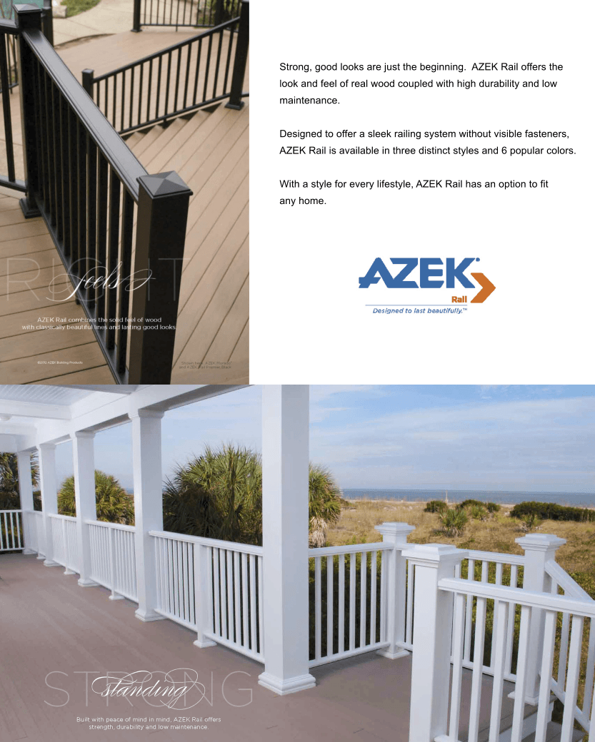 AZEK Railing Benefits image