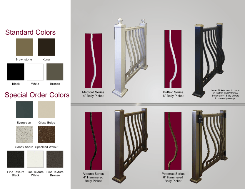 Aluminum Railing Standard Colors and Special Order Colors image