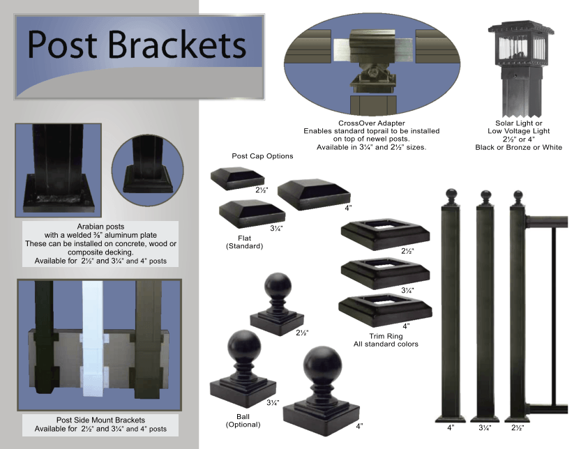 Aluminum Railing Post Brackets image