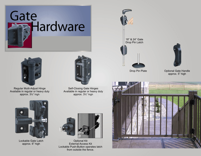 Aluminum Railing Gates and Hardware image 01