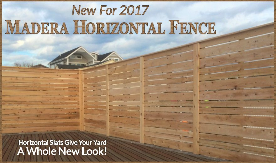 Madera - Horizontal Wood Fence by Dennisville Fence