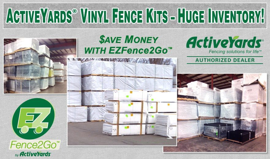 ActiveYards Vinyl Fence Kits -- EZ Fence2Go -- Saves You Money with a Do-It-Yourself Fence System