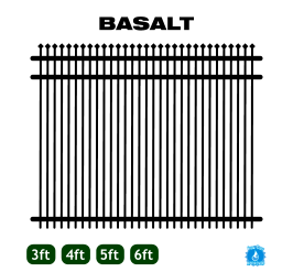 Aluminum Fence - Home Series - Basalt Style image