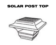 Aluminum Fence - Solar Post Top image
