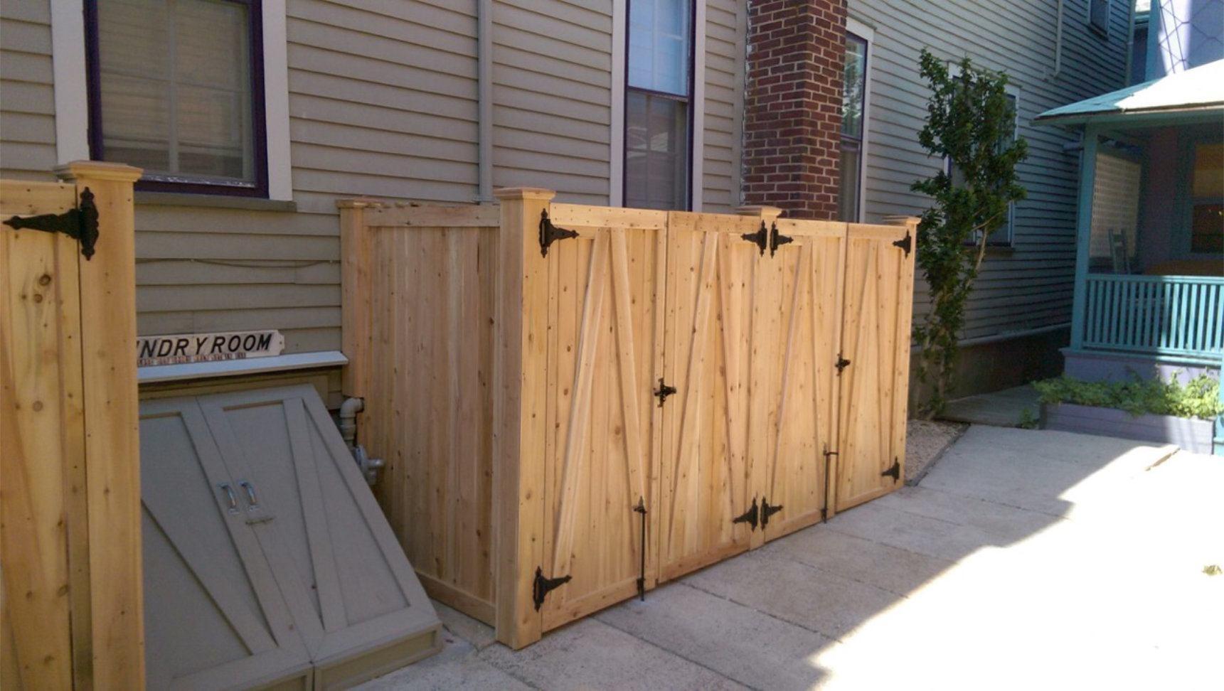 Wood fence photos dennisville fence baanklon Gallery