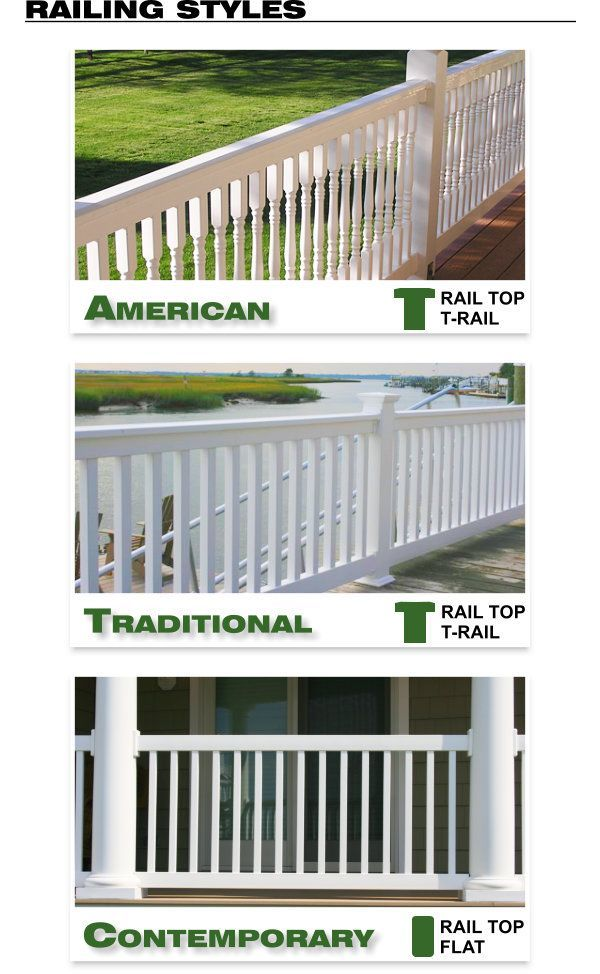 Vinyl Railing - American, Traditional, and Contemporary Styles image