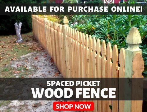 Spaced Picket Wood Fence Available For Purchase Online