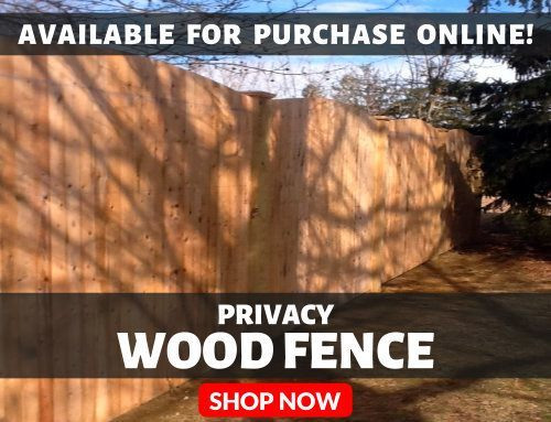 Privacy Wood Fence Available For Purchase Online