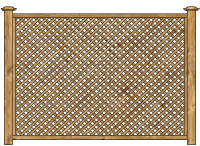 Framed Lattice Panel Wood Fence image