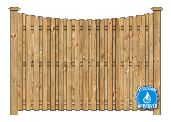 Board On Board Wood Fence - Cedar Single Concave W2128 - image