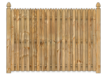 Board On Board Wood Fence - Cedar Straight Simplicity W1328 - image
