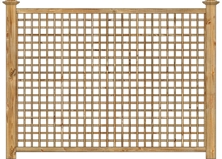 Wood Fence - Cedar Square English Lattice Panel Image - Wood Fence - Cedar Square English Lattice Panel Dennisville Fence