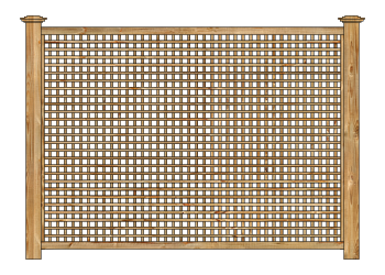 Cedar Square Standard Lattice Panel Wood Fence W1010 - image