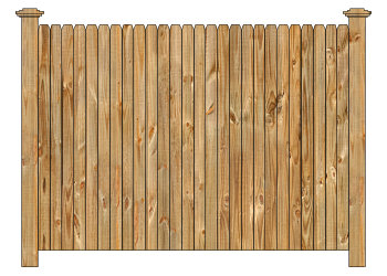 Wood fence cedar straight dog ear privacy fence section image