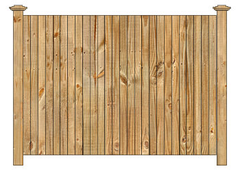 Wood fence cedar straight virginian privacy fence section image