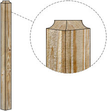 Contemporary Style Wood Fence Post