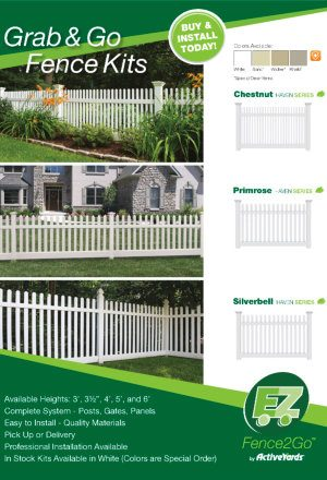 Activeyards Quickship 2018 Brochure from Dennisville Fence in South Jersey