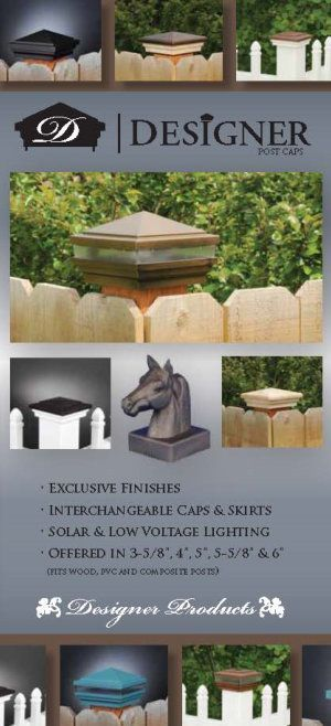 Dennisville Fence Product Brochure - LMT 2014 Designer Post Caps image