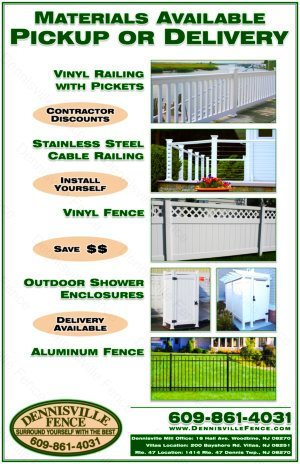 Dennisville Fence Product Brochure - Materials Available and Professional Services - image