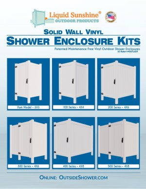 Liquid Sunshine Outdoor Shower Enclosure Kits Brochure - 2018