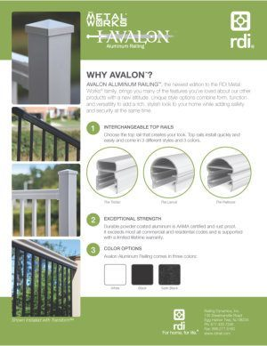 RDI MetalWorks Avalon Railing Brochure image
