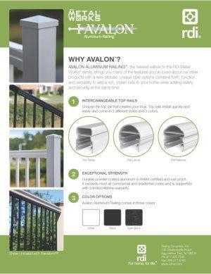 RDI MetalWorks Avalon Railing Brochure image