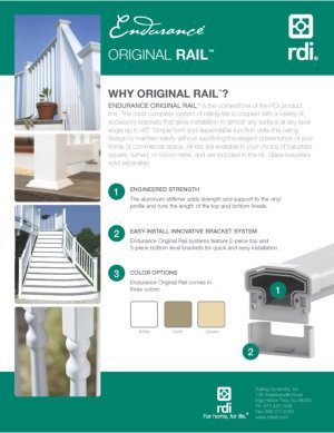 RDI Endurance Railing Brochure image