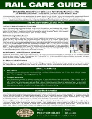 Brochure Cover - Rail Care Guide