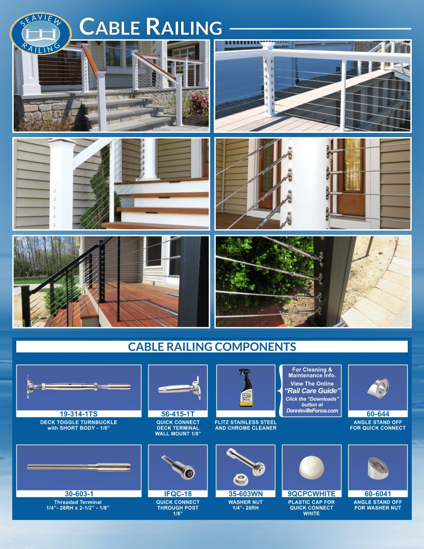 Cable Railing Photos and Components