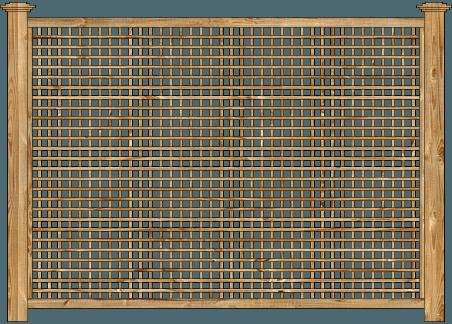 Framed Lattice Panels Wood Fence - Cedar Square Standard Lattice image