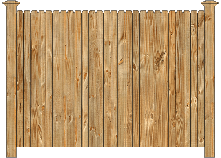 Solid Wood Privacy Fence - Dog Ear image