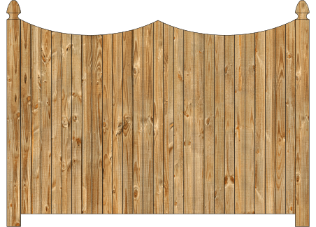 Solid Wood Privacy Fence - Cedar Double Concave Virginian image