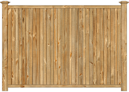 Solid Wood Privacy Fence - Cedar Tongue and Groove image