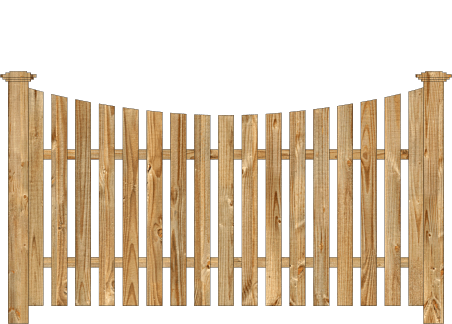 Spaced Picket Wood Fence - Cedar Single Concave Virginian image