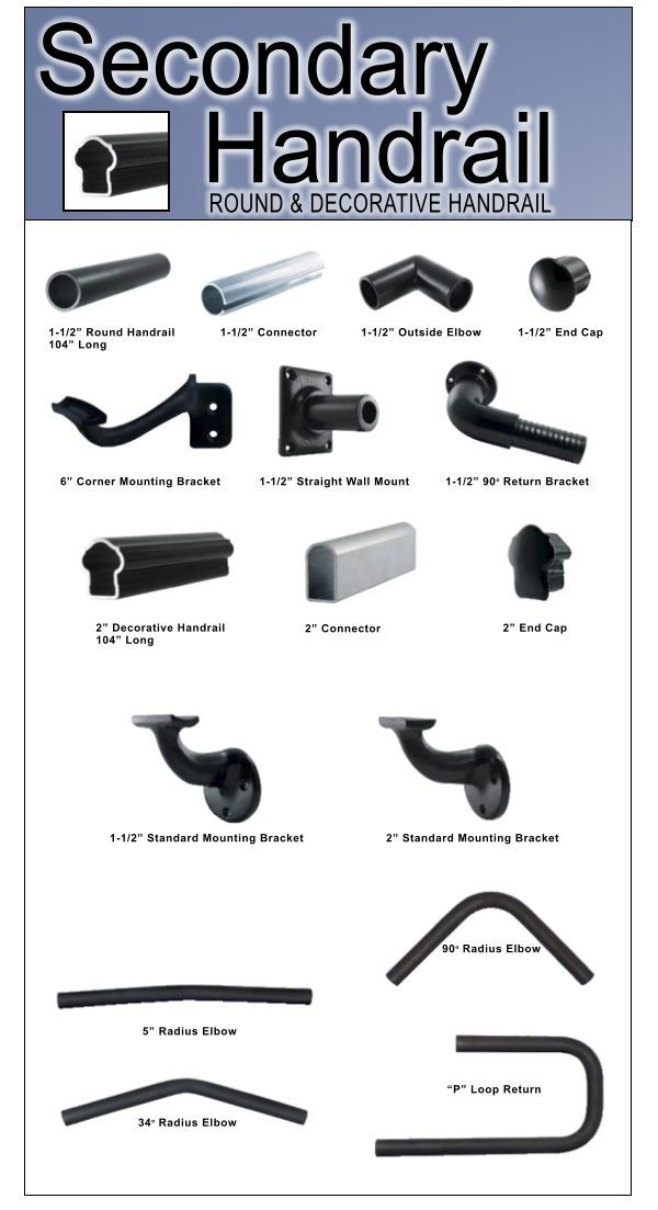 Aluminum Railing Secondary Handrail image 03