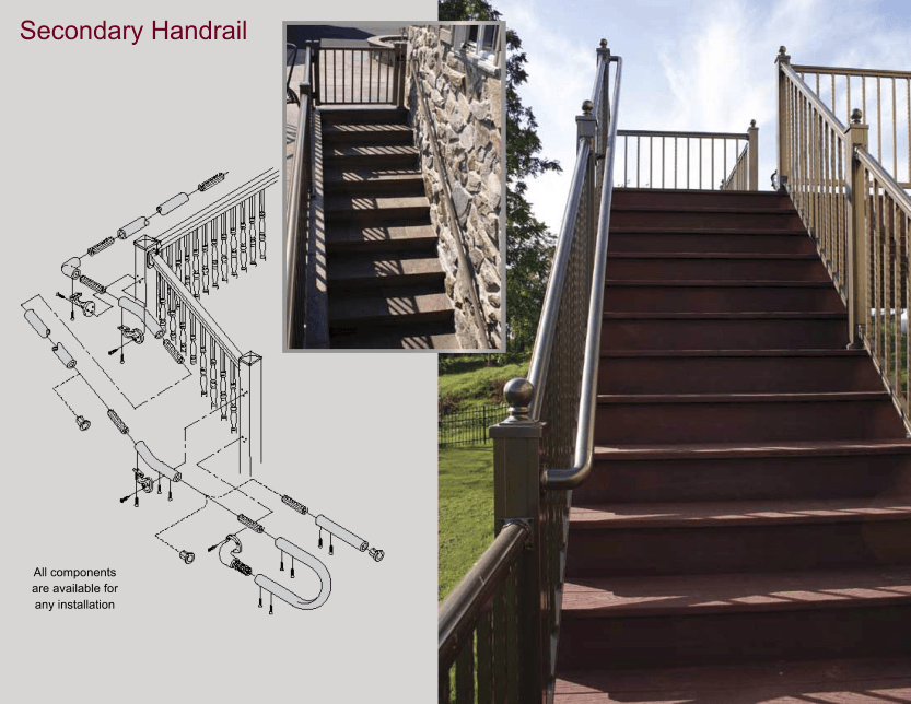 Aluminum Railing Secondary Handrail image 02