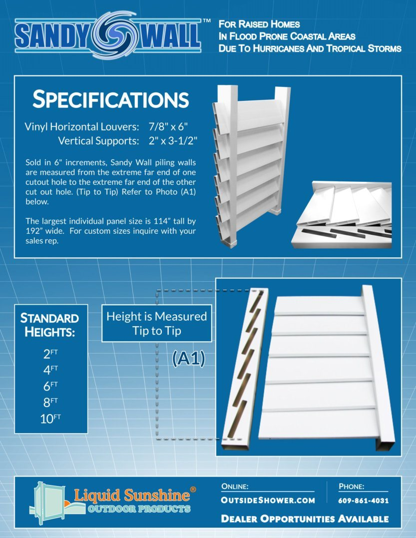 Sandy Wall Specifications Flyer image