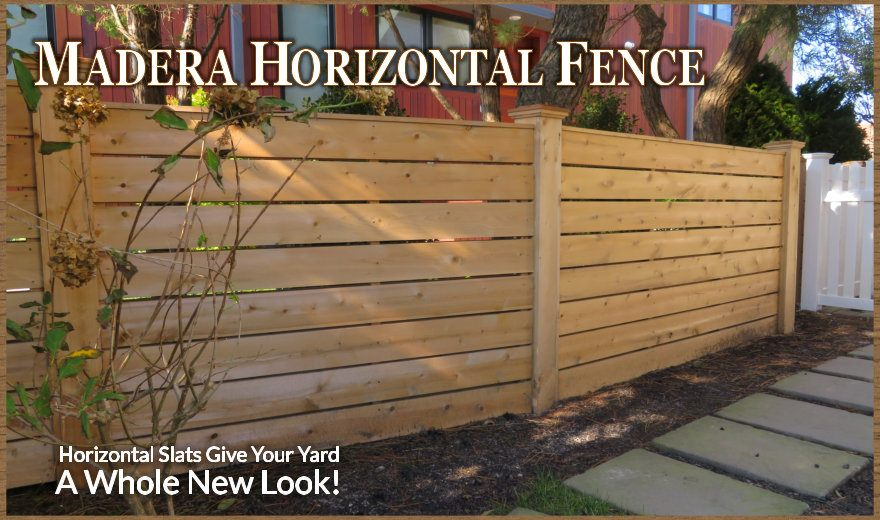 Madera Horizontal Wood Fence By Dennisville Fence