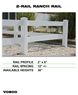 Legacy Vinyl Fence - 2-Rail Ranch Rail Fence Section image